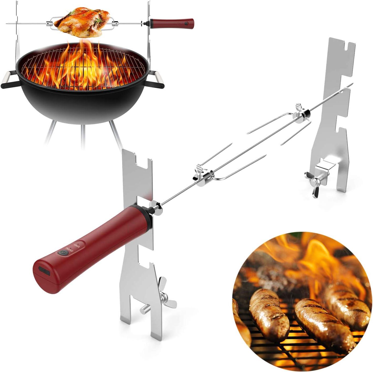 Elektrischer Grillspieß Drehspieß Drehspiess Grill Gasgrill Rotisserie BBQ Spieß