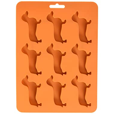 WHAT ON EARTH Dachshund Ice Cube Tray - BPA-Free Silicone Dog Shaped Mold for Candy Making or Gelatin Setting