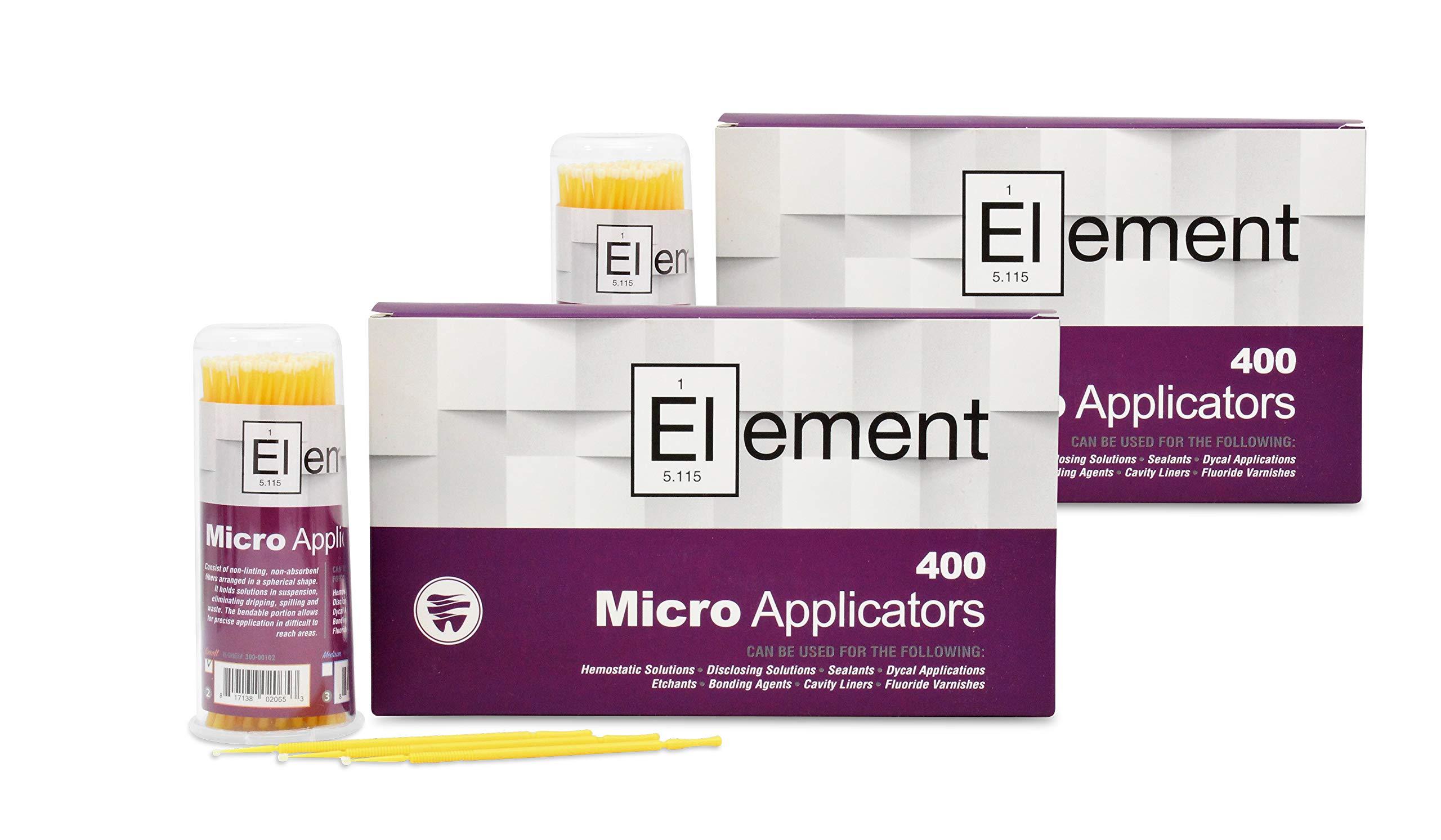 ELEMENT Micro Applicator Brush/Microbrush - SMALL TIP/YELLOW (800 pcs)