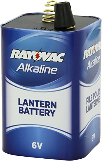 Rayovac 6V Spring Terminal Alkaline D Cell Lantern Battery Lot of 6