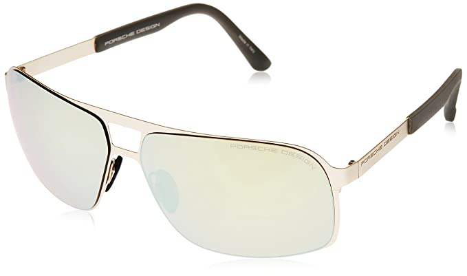 a5172d03740 Image Unavailable. Image not available for. Colour  Porsche Design Men s  P8579 P 8579 A Gold Mirrored Yellow Fashion Sunglasses 65mm