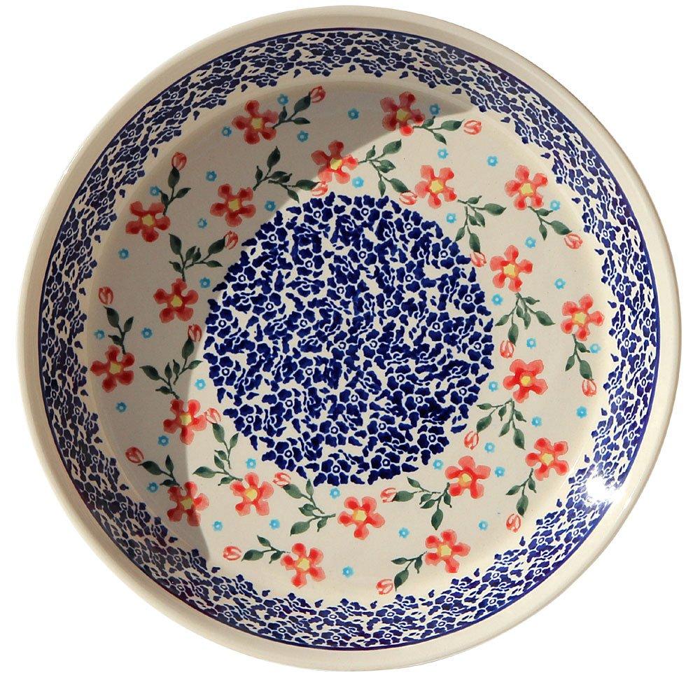 1.8 Diameter Polish Pottery Dish Pie Plate 10 From Zaklady Ceramiczne Boleslawiec #879-964 Classic Pattern 10 Height Height 1.8 Diameter 10 Zaklady Ceramiczne Boleslawiec