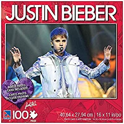 Justin Bieber 100 Piece Jigsaw Puzzle Justin in Concert: Toys & Games