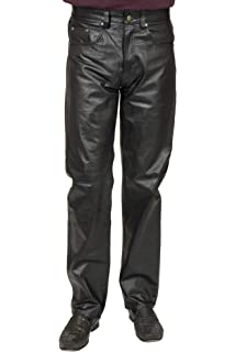 c42365ee03 Amazon.com  Xelement B7400  Classic  Men s Fitted Leather Pants ...