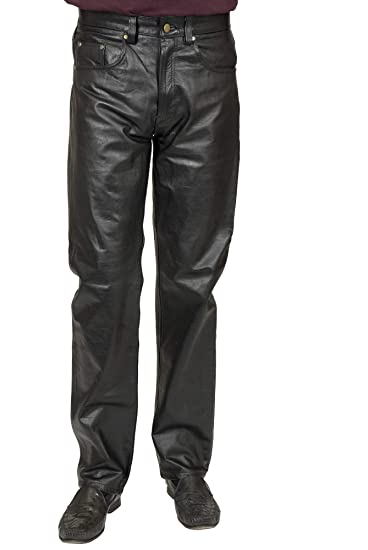 c1809dd4752 Amazon.com  Charades Men s Faux-Leather 4-Pocket Pants  Clothing
