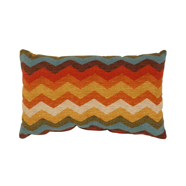Amazon.com: Pillow Perfect Panama Wave Rectangular Throw Pillow ...