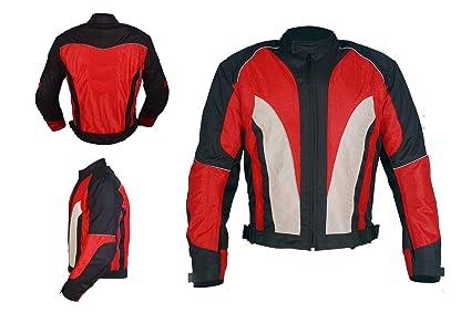 Chaqueta de moto | para hombre | 4 estacione cortaviento para motos | especial de verano. Todos los tamaños cordura transpirable y protectora. (XL)