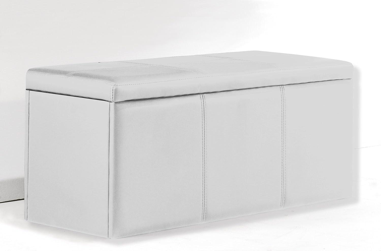 Adec (Universal) - Baúl tapizado en similpiel color blanco ...