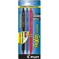 Pilot Frixion Clicker, Bolígrafo Retráctil, Tinta Borrable Colores Surtidos, Usa Repuesto, Blíster 3 Piezas (31467…
