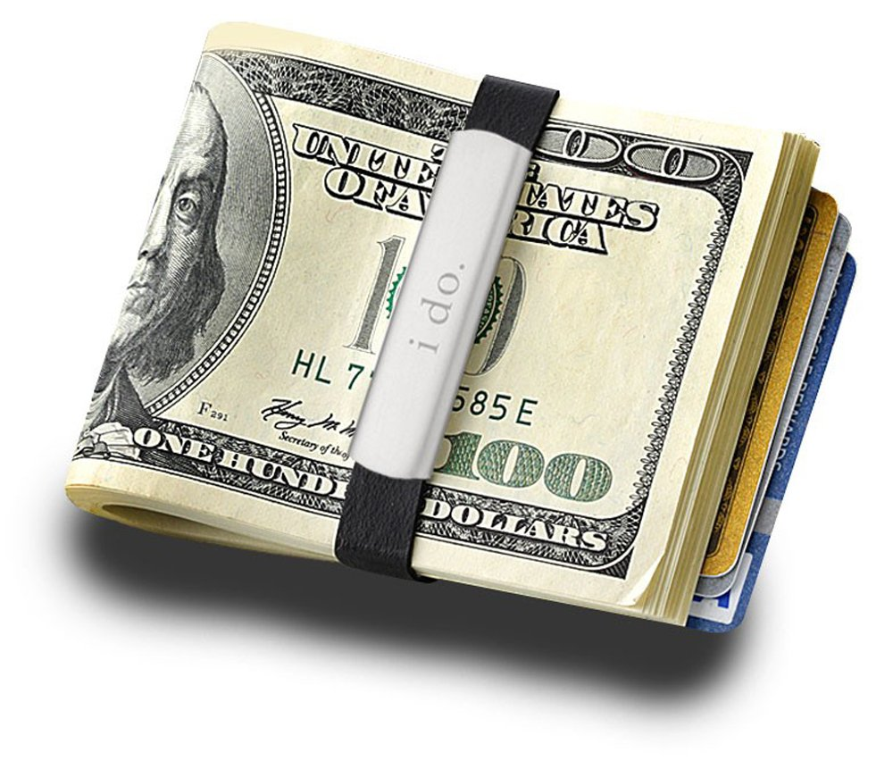 Money Band, Stainless Steel & Rubber Money BandFREE ENGRAVE