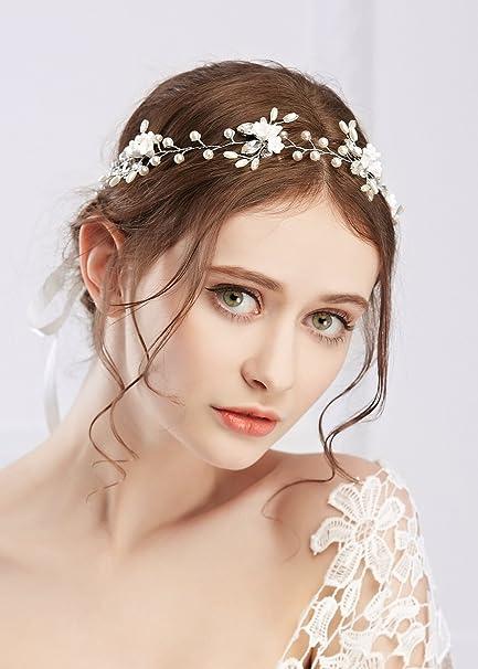 Handmadejewelrylady da sposa strass di cristallo fiore vite fascia per  capelli fascia sposa damigella d  0d9a92fd56e6