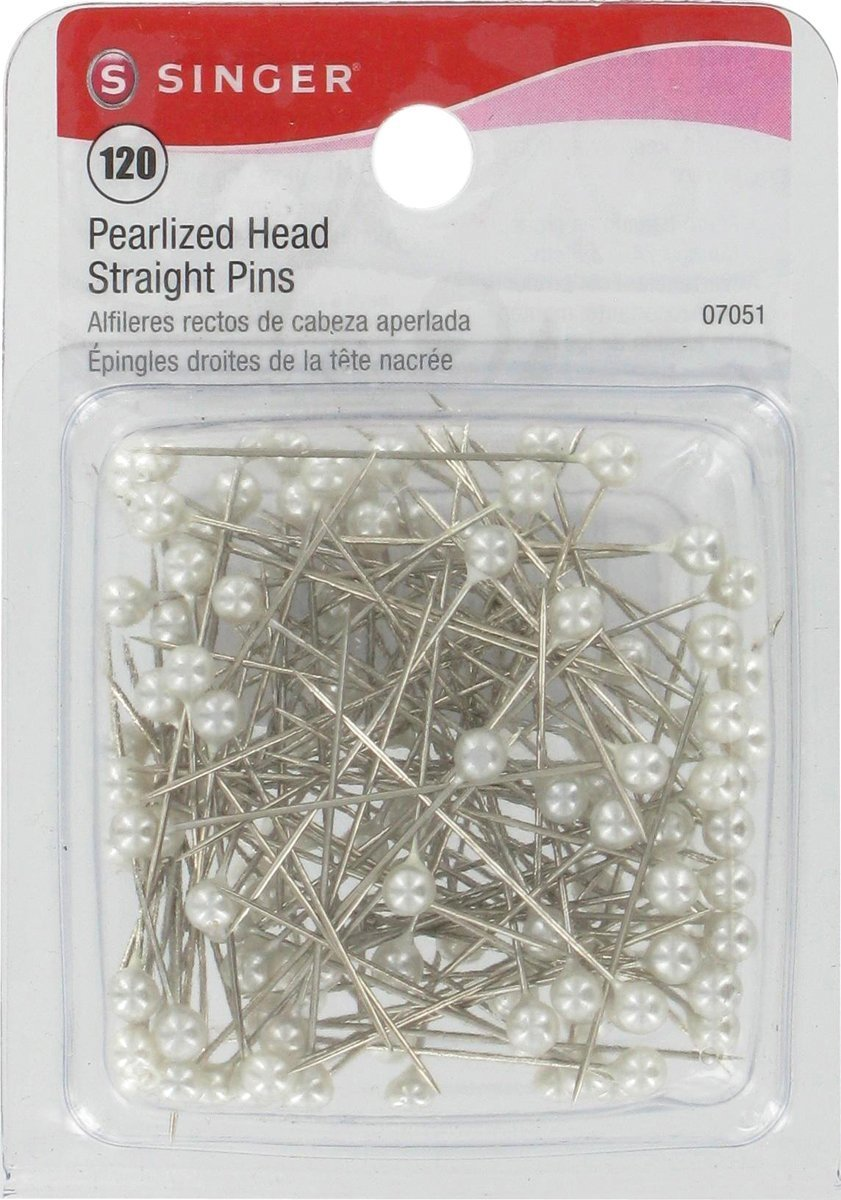Singer Pearlized Ball Head Straight Pins 2 Pack 120-Count