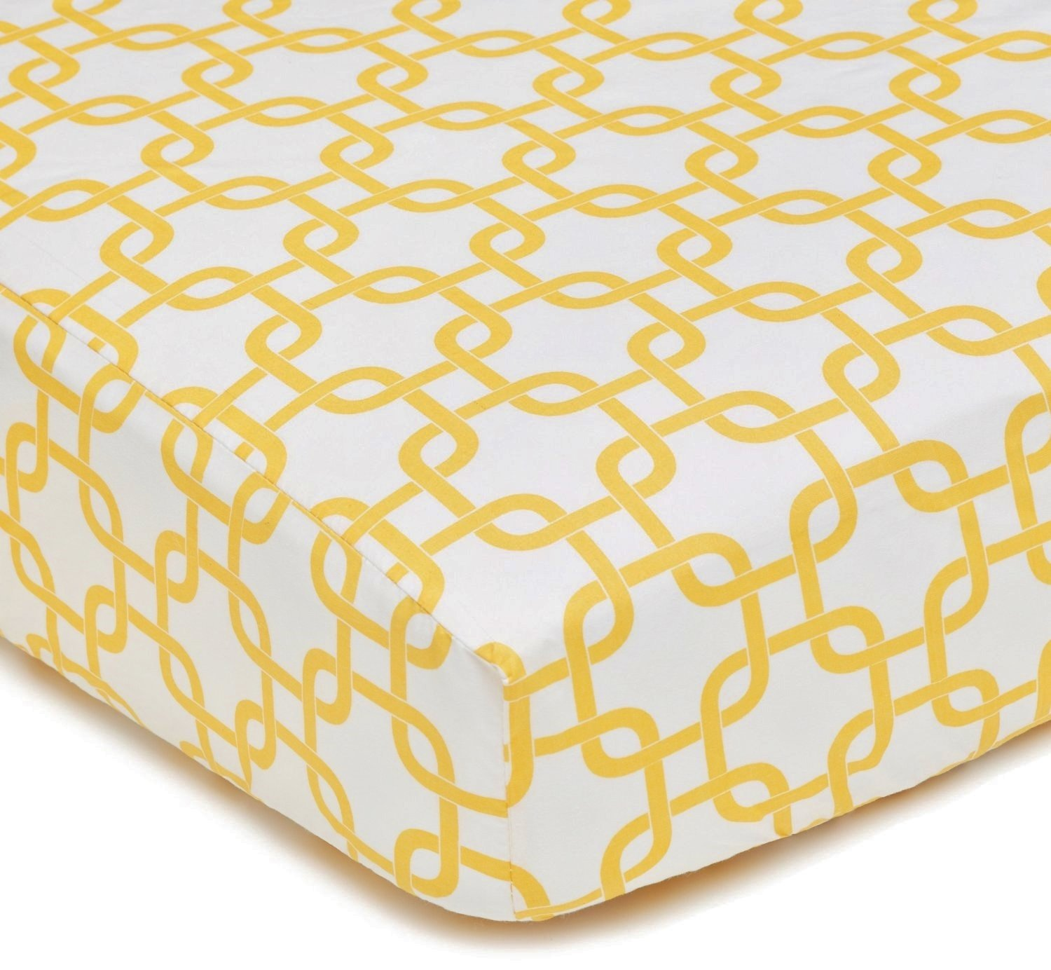American Baby Company 100% Cotton Percale Fitted Crib Sheet for Standard Crib and Toddler Mattresses, Golden Yellow Twill Gotcha