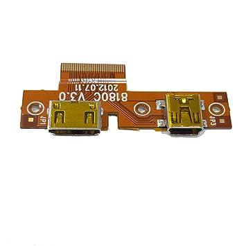 Flex Conector Carga Mini USB y HDM Tablet BQ Maxwell Lite FNAC 7 8180C Original
