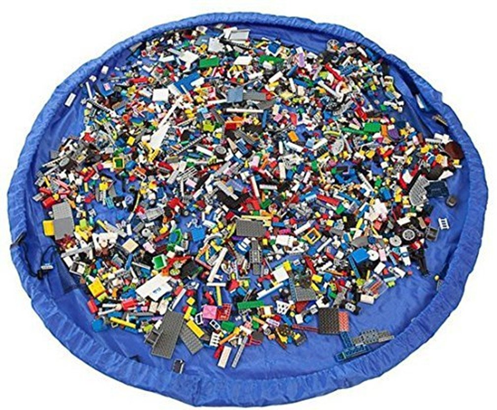 Jouet Sac de rangement grand sac de rangement Lego Tapis Portable enfants Toys Organiseur de stockage Sac à cordon Tapis de jeu SogYupk