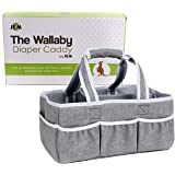 Wallaby Diaper Caddy Organizer Portable Storage Bin for Diapers, Wipes, Baby Bottles and more. Great for Home, Car, Travel or a Baby Shower Gift.