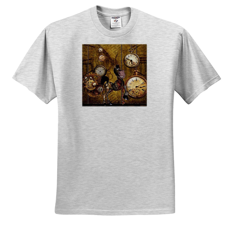 3dRose Heike K/öhnen Design Steampunk Cute Steampunk Horse Clocks and Gears T-Shirts