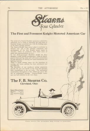 Amazon com: 1916 Stearns Knight Motor Car Cleveland OH Auto