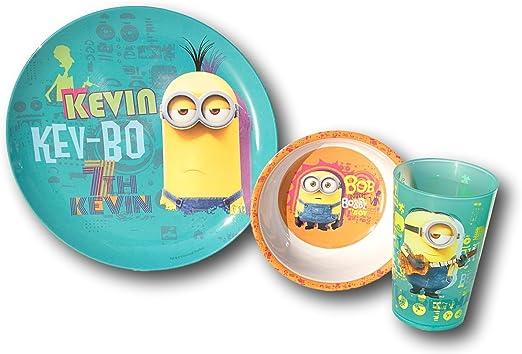 Despicable Me Minions 1 In A Minion 3-Piece Dinnerware Set