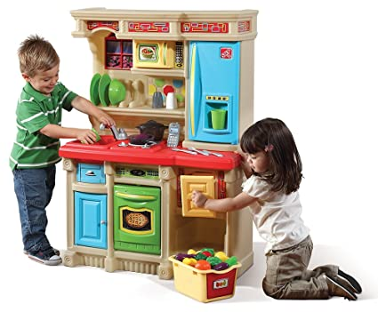 Amazon Com Step2 Lifestyle Custom Kitchen Playset For Kids