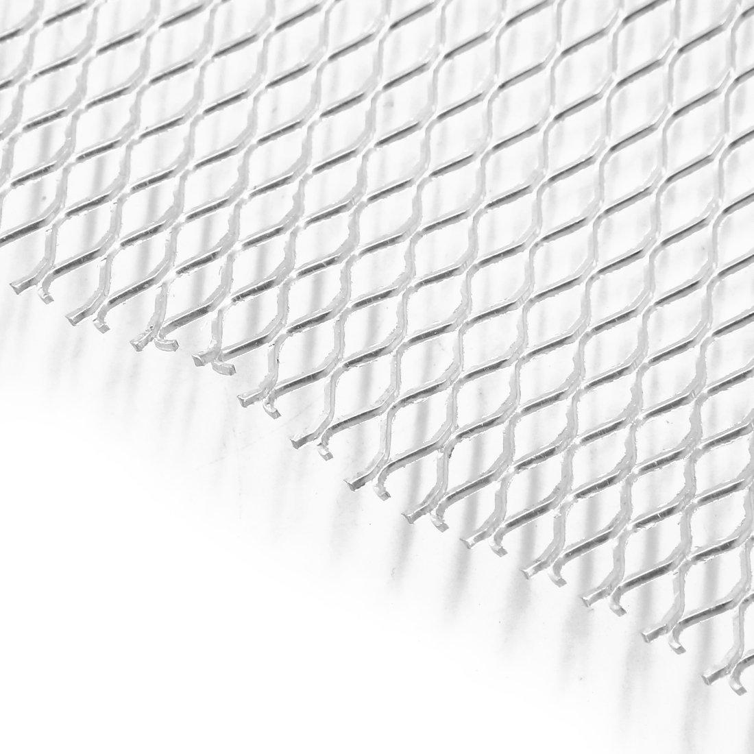AUTOT 40x13 Car Grille Sheet 25x11mm Hexagon Type Silver