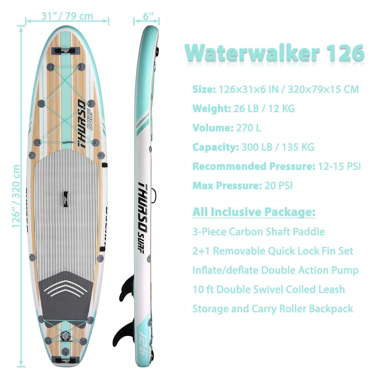 THURSO SURF Tabla Paddle Surf Hinchable Waterwalker 320 x 79 x 15 ...