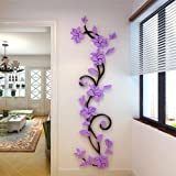 Tongshi DIY 3D acrílico cristal Wall Stickers salón dormitorio TV fondo Inicio (caliente)