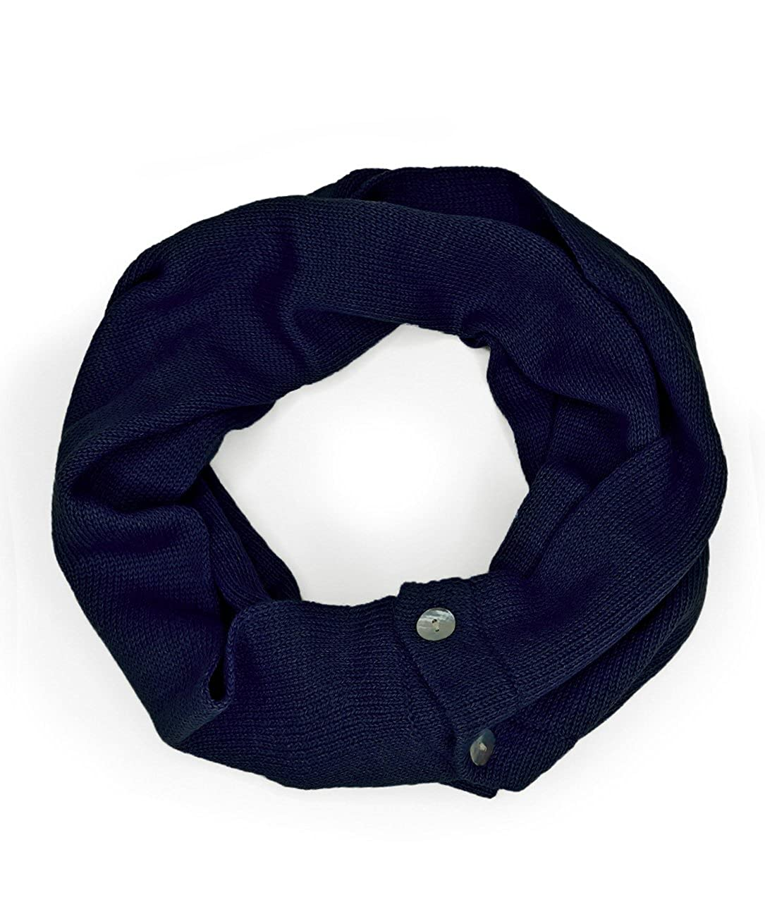 Unisex 100/% Baby Alpaca Wool 2-in-1 Convertible Infinity Circle Scarf