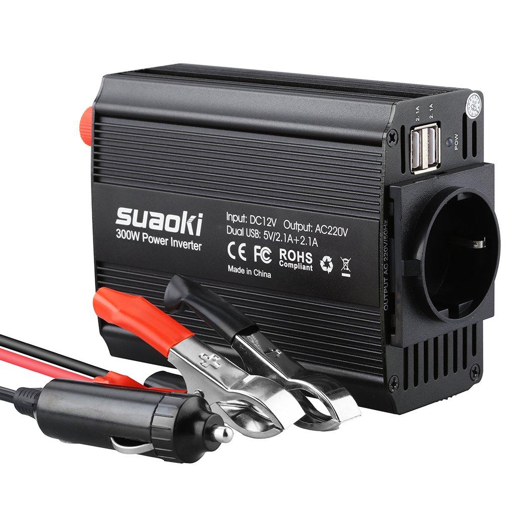 Suaoki W Inversor de Corriente DC V V V AC salida Dual