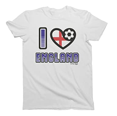 d8661a021 I Love England Football T-Shirt World Cup 2018  Choice of Mens Ladies Kids    Amazon.co.uk  Clothing