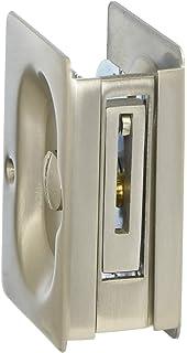 emtek pocket door privacy lock set satin nickel