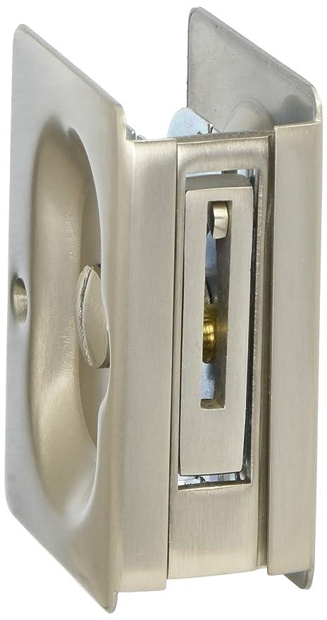Ordinaire Emtek Pocket Door Privacy Lock Set, Satin Nickel