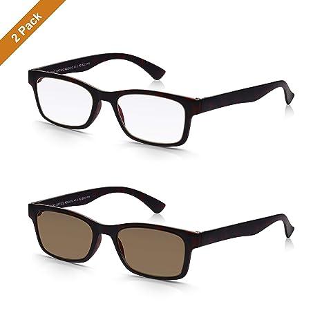 Read Optics: Pack x2 Gafas de Lectura Vista + Gafas de Sol de Presbicia (Hombre/-Mujer) – 100% Protección UV400 con Lentes Graduadas +2.50 Dioptrías – ...