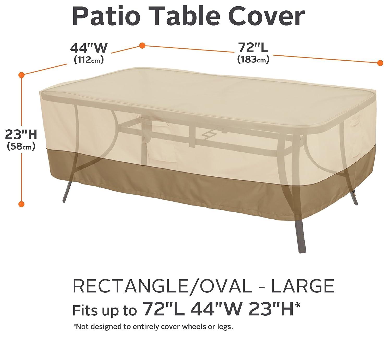 Amazon.com: Cobertor para mesa rectangular/ovalada de ...