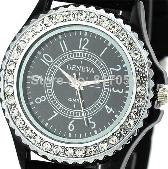 Beauty regalo 2014 nuevo diseño de moda ginebra famosos caliente hombres mujeres correa de goma Classic muñeca reloj de cuarzo Mejor Regalo 9805: Amazon.es: ...