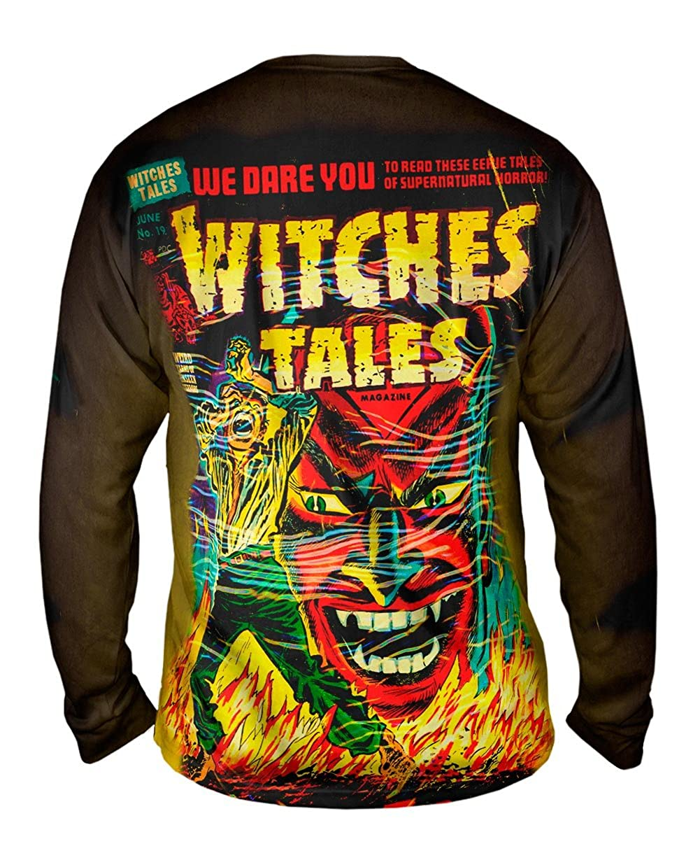 Mens Long Sleeve TShirt Yizzam Witch Tales Comic Retro