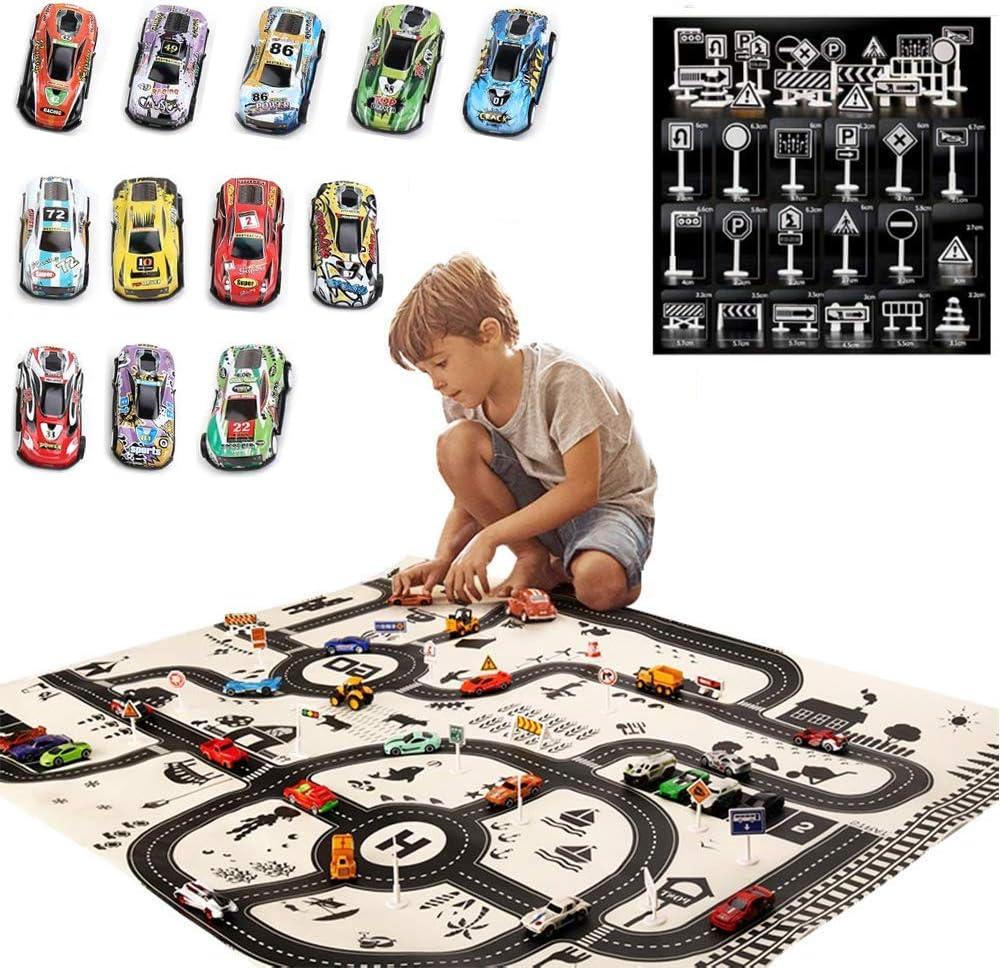 "Kids Car Rug Town Road Map Carpet Playmat 60/"" x 32/"""