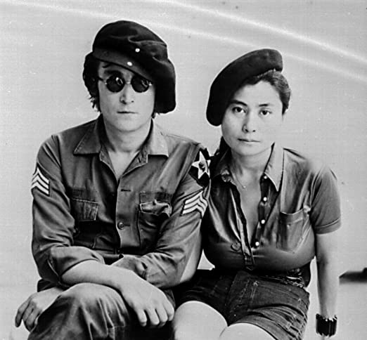Amazon Com John Lennon And Yoko Ono Wearing Military Uniforms Photo Print 30 X 24 Home Kitchen