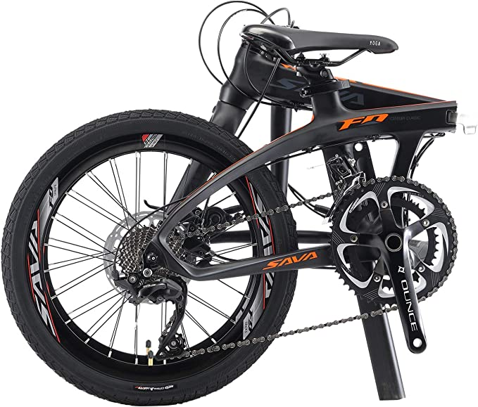 Sava - Bicicleta plegable de 20 pulgadas de fibra de carbono ...
