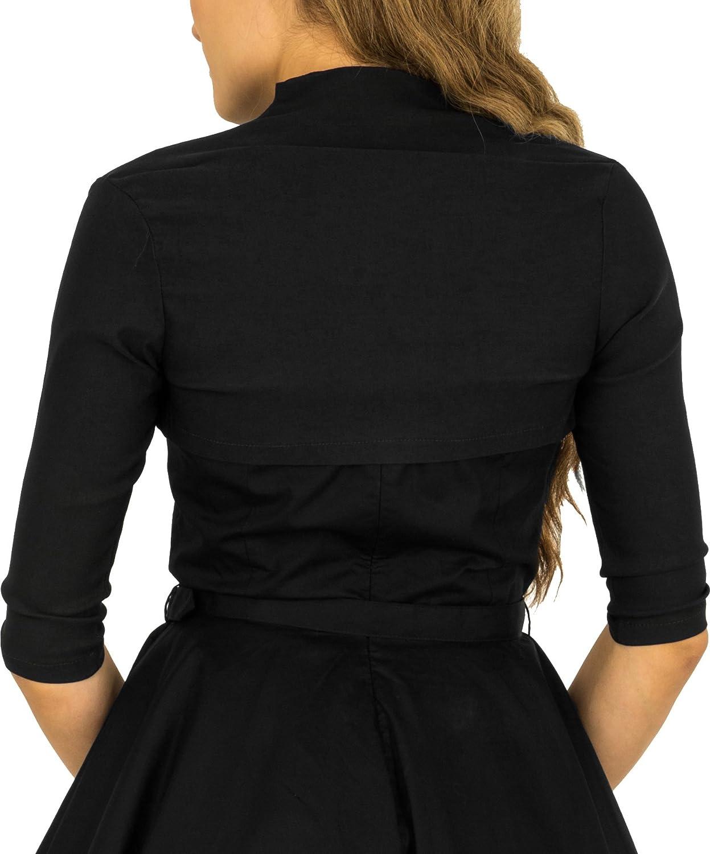 BlackButterfly Tailored 3//4 Sleeve Bolero