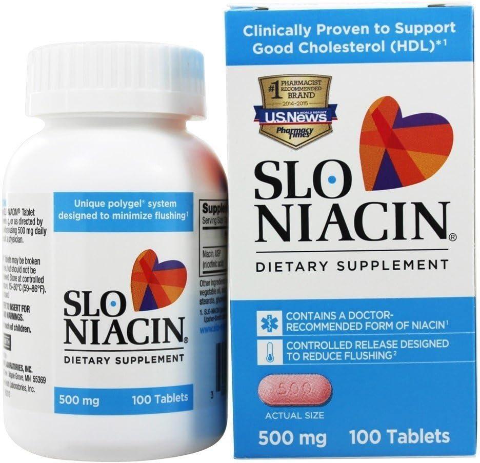 Slo-Niacin Vitamin B3 Free shipping on posting reviews 500 Mg - Niacin Slow Hea Release for Heart Atlanta Mall