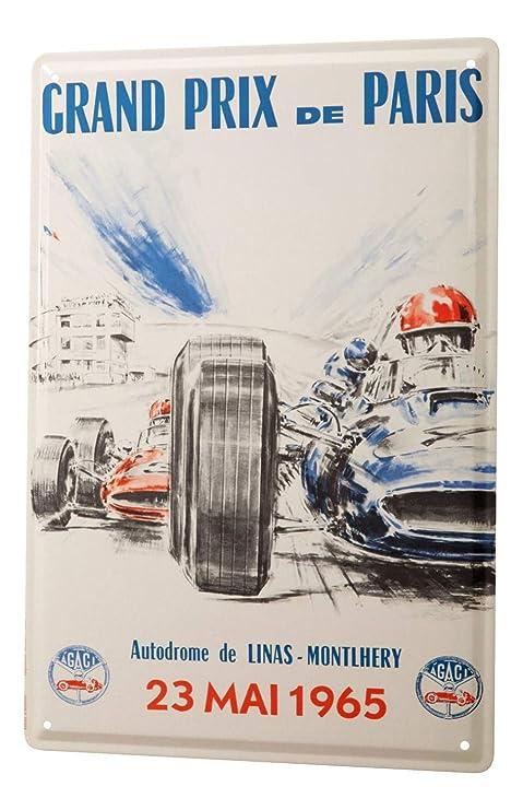 Cartel Letrero de Chapa Nostalgic Retro Coche Grand Prix ...