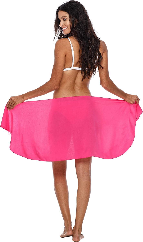 SHU-SHI Womens Bathing Suit Cover Up Sarong Pareo Beach Skirt Short Sarong Wrap