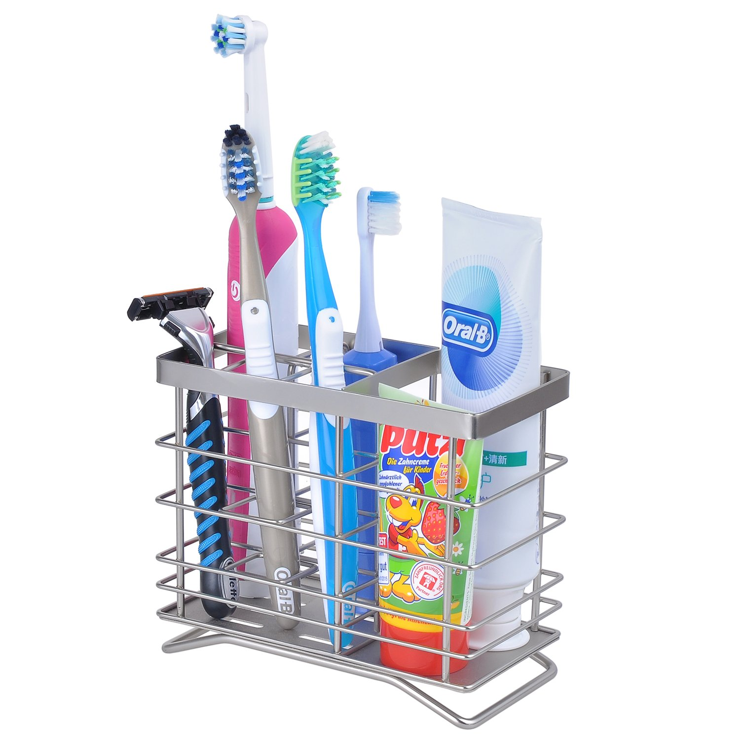 Stainless Steel Electric Toothbrush Head Holder;Holder Organizer OCTOPODIS