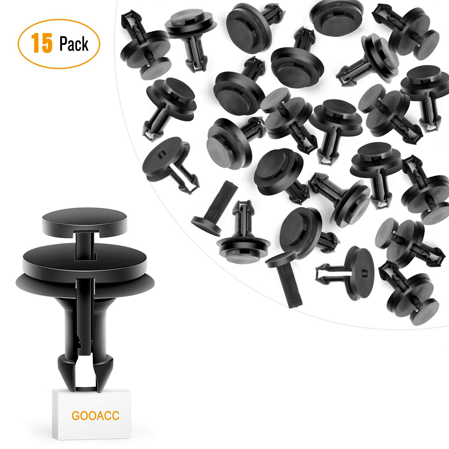GOOACC GM Front Air Deflector Retainers Clips 15733971 for GM Chevrolet 15733971-15PCS GRC-17