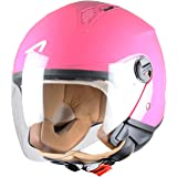 Astone Helmets Mini Jet Army Casco Jet, color Rosa (Rose Foncé), talla