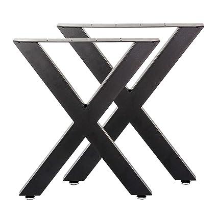 Bastidores para mesa 72x60 cm Recubrimiento polvo negro Caballetes ...