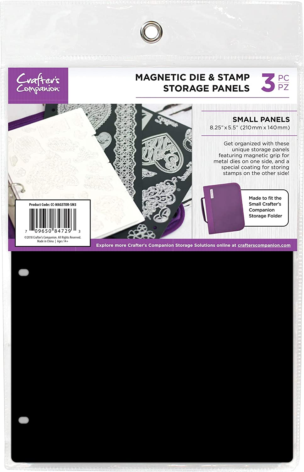 Crafters Companion CCMAGSTS 8.25X5.5 Magnetic Storage Panels 3//Pkg-Small