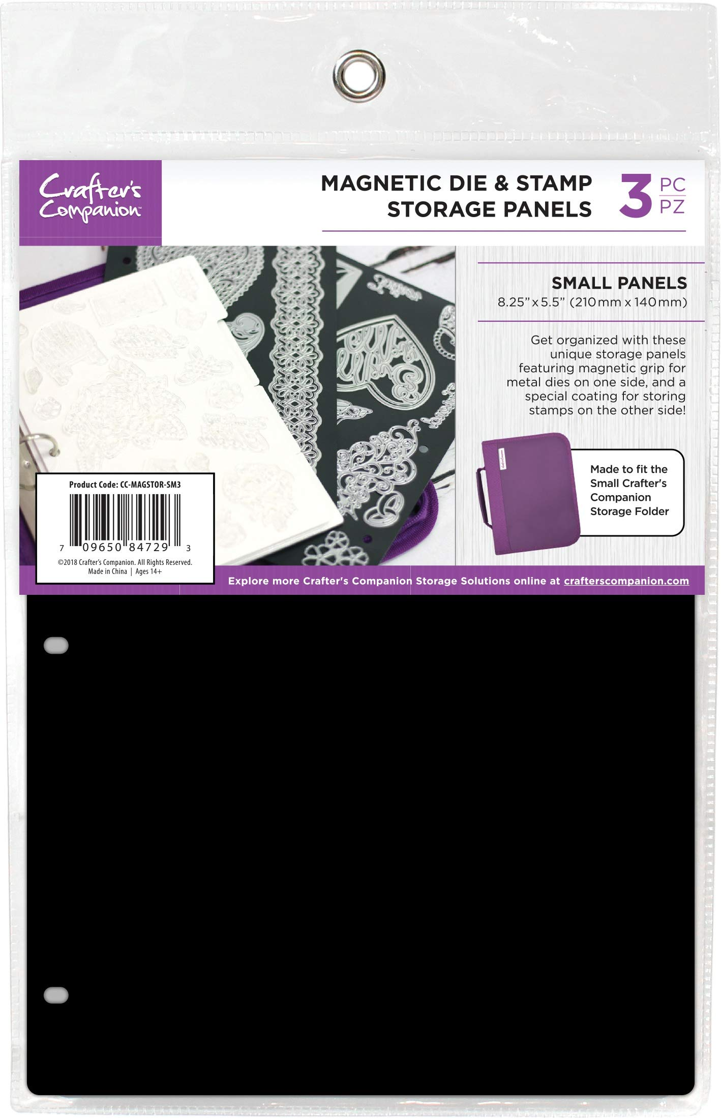 Crafter's Companion CCMAGSTS 8.25''X5.5'' Magnetic Storage Panels 3/Pkg-Small