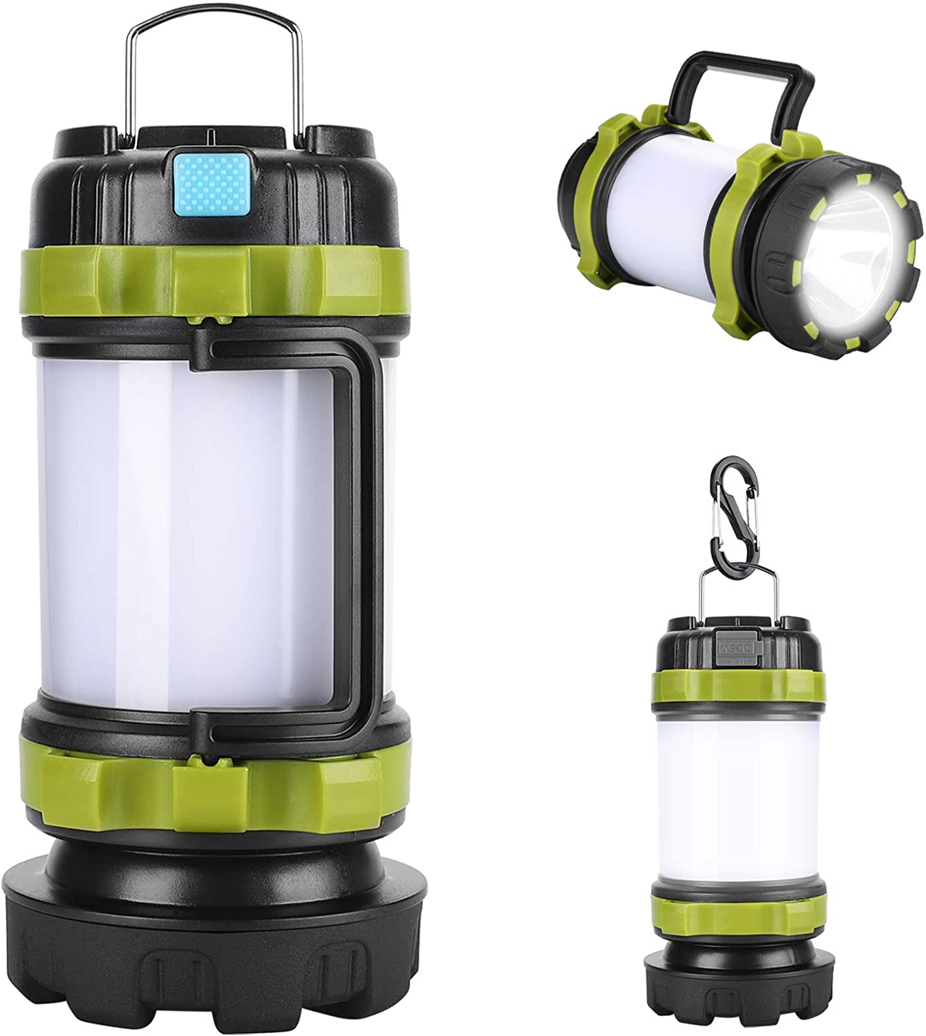 AlpsWolf Camping Lantern Rechargeable Camping Flashlight 4000mAh Power Bank,6 Modes, IPX4 Waterproof, Led Lantern Camping, Hiking, Outdoor Recreations, USB Charging Cable Included: Sports & Outdoors